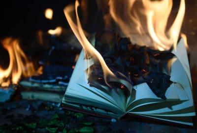 Burning books may kill coronavirus germs, but at what cost?