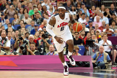 LeBron James's most recent Olympics appearance at the 2012 London Games.