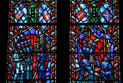 Robert E. Lee and company in the National Cathedral's stained-glass windows.
