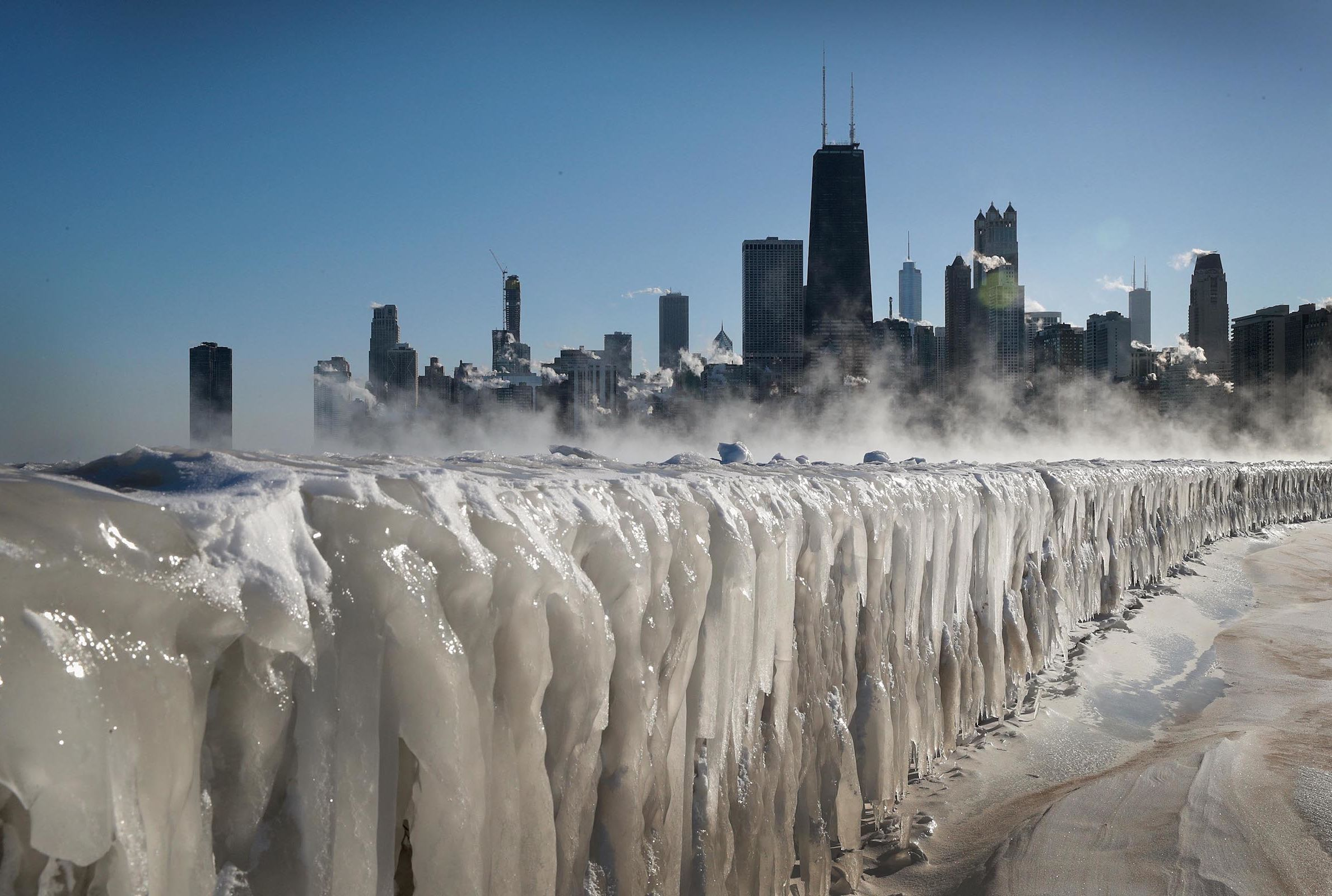 lake michigan has frozen over and it s an incredible sight mental floss lake michigan has frozen over and it s