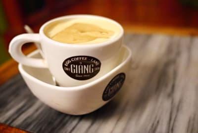 Egg coffee at Café Giang in Hanoi, Vietnam.