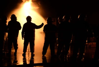 Firefighters battle a state of emergency.