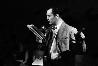 Jack Kerouac reading poetry.