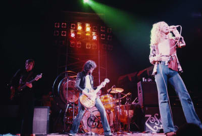 Led Zeppelin possibly performing one of their many odes to Middle-earth in London, 1975.