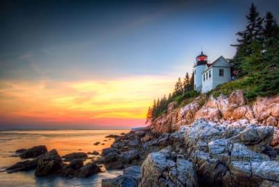 Bass Harbor Lighthouse at Acadia National Park.