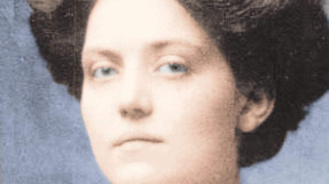 Colored photograph of Violet Jessop, survivor of the Titanic.