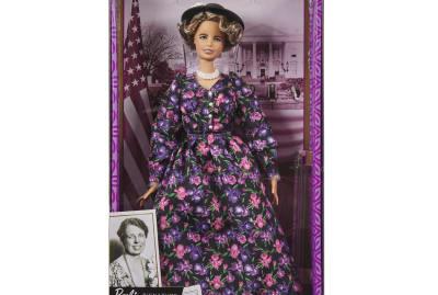 Eleanor Roosevelt's Barbie likeness.