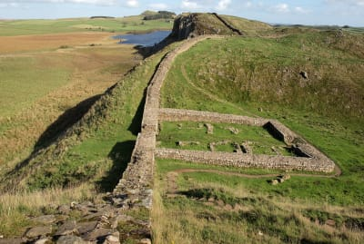 A small fort along Hadrian's Wall in northern England.