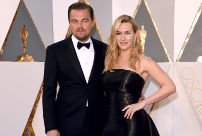 Leonardo DiCaprio and Kate Winslet at the Oscars in 2016.