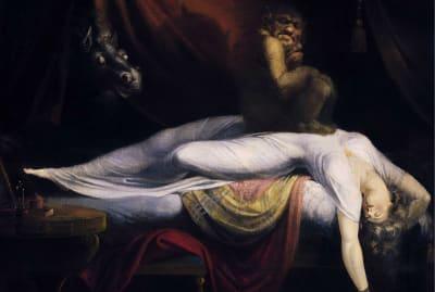 If your nightmares look like Henry Fuseli's The Nightmare (1781), we're so sorry.