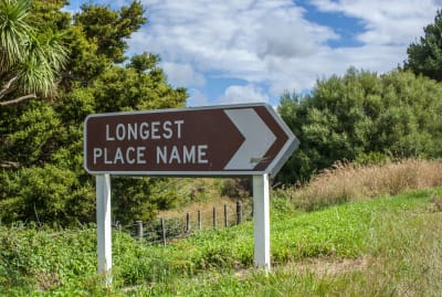 It would be hard to fit the world's longest place name onto this small sign.