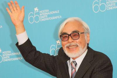 Hayao Miyazaki at the Venice Film Festival in 2008.