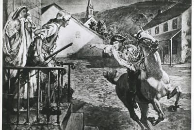 Pictured: Paul Revere doing something he most certainly did not do.