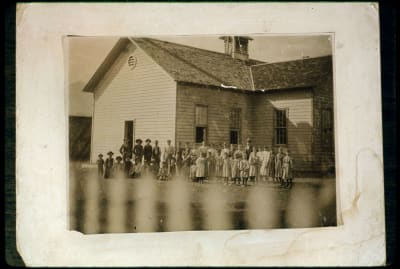 A schoolhouse in Paradise Valley, Nevada.