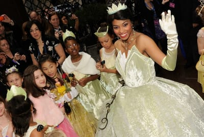 Princess Tiana at her induction into the Disney Princess Royal Court in 2010.