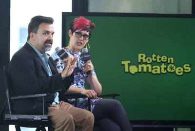 Rotten Tomatoes' editor-in-chief Matt Atchity and senior editor Grae Drake in 2016.