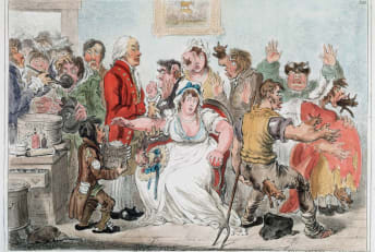 James Gillray's 1802 cartoon depicted anti-vaxxers' predictions of the smallpox vaccine's effects.