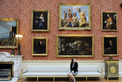 Former curator of paintings Jennifer Scott in the Picture Gallery in 2011.