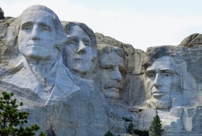 Mount Rushmore in South Dakota.