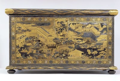 A larger companion piece to this chest was mistakenly used as a household item.