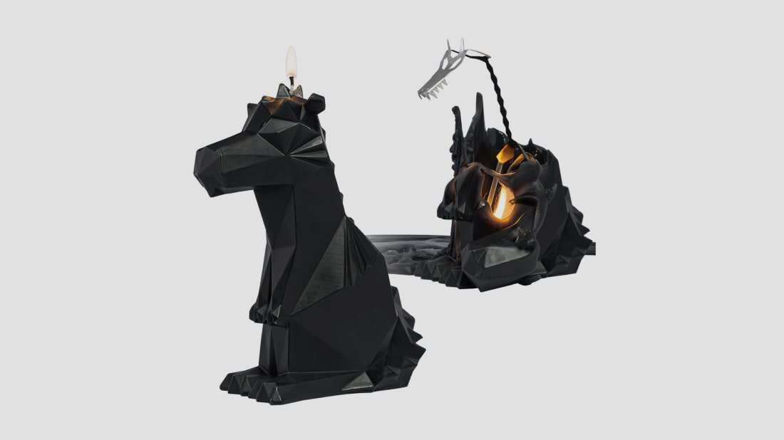 PyroPet's Dreki dragon candle
