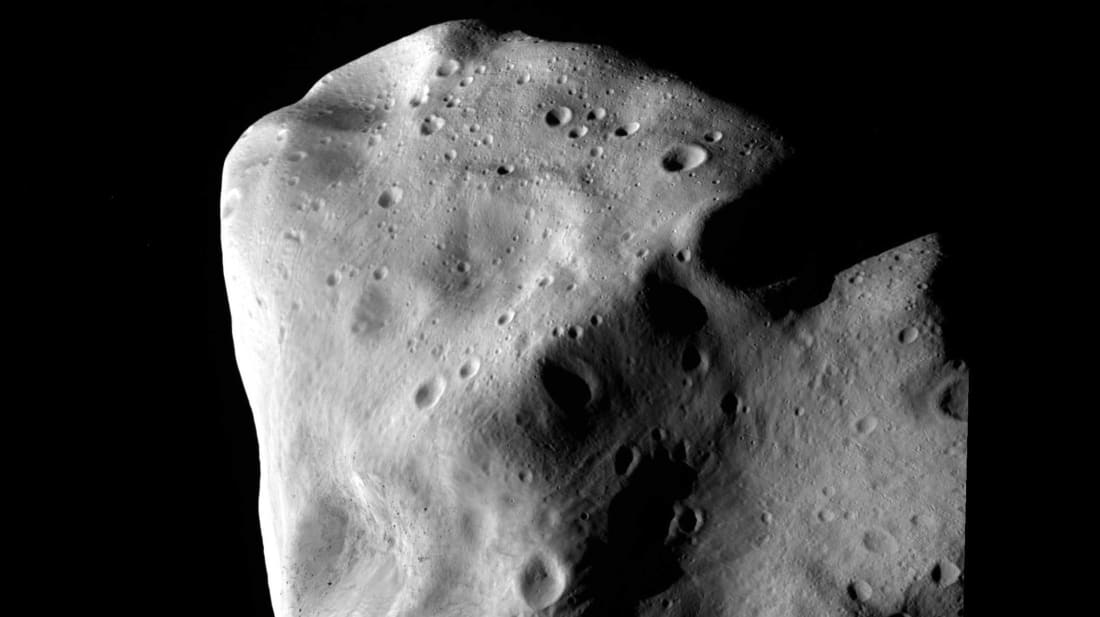 An image of a different asteroid, called Lutetia