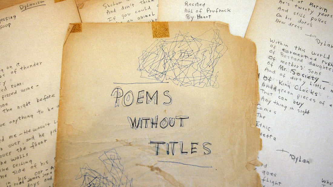 A collection of Bob Dylan poems that was auctioned off by Christie's in 2005.