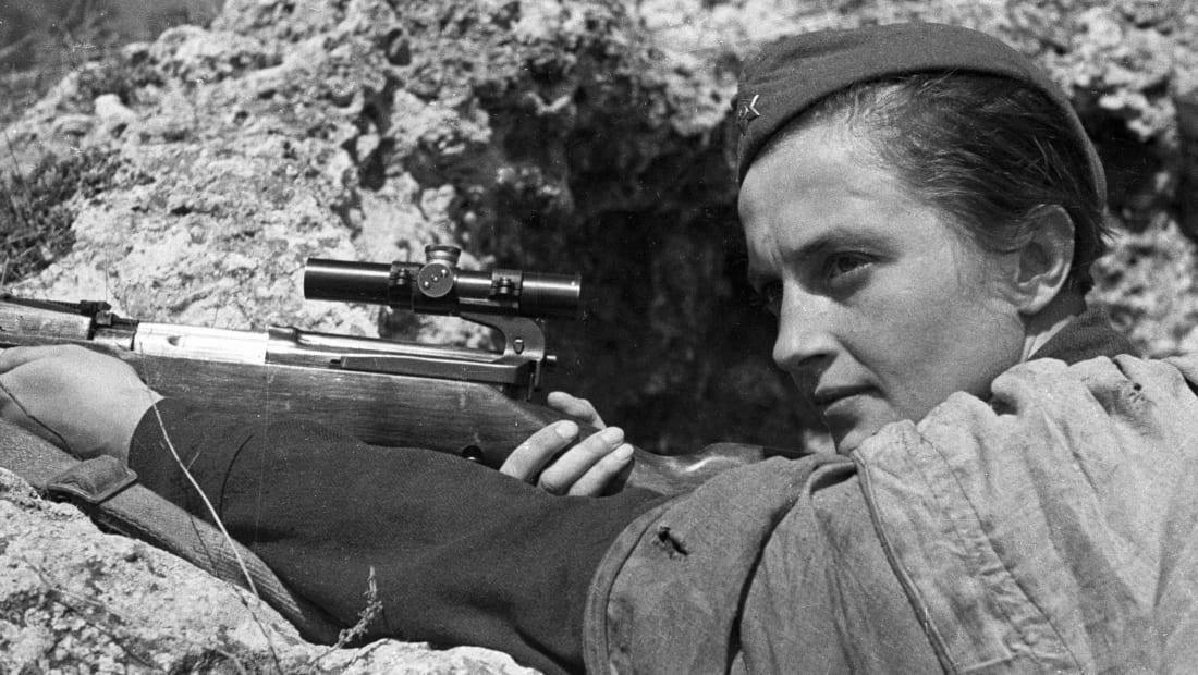 Soviet sniper Lyudmila Pavlyuchenko