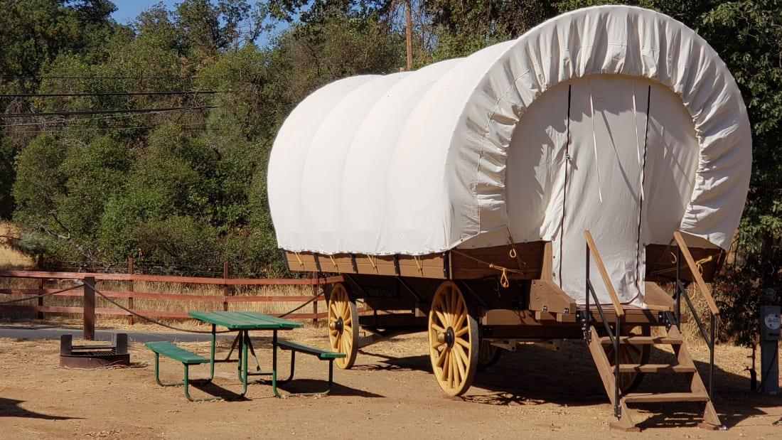 You Can Now Vacation In A Covered Wagon Cabin Near Yosemite Mental Floss