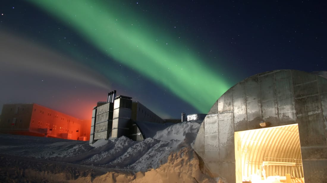 Amundsen-Scott South Pole Station in Antarctica