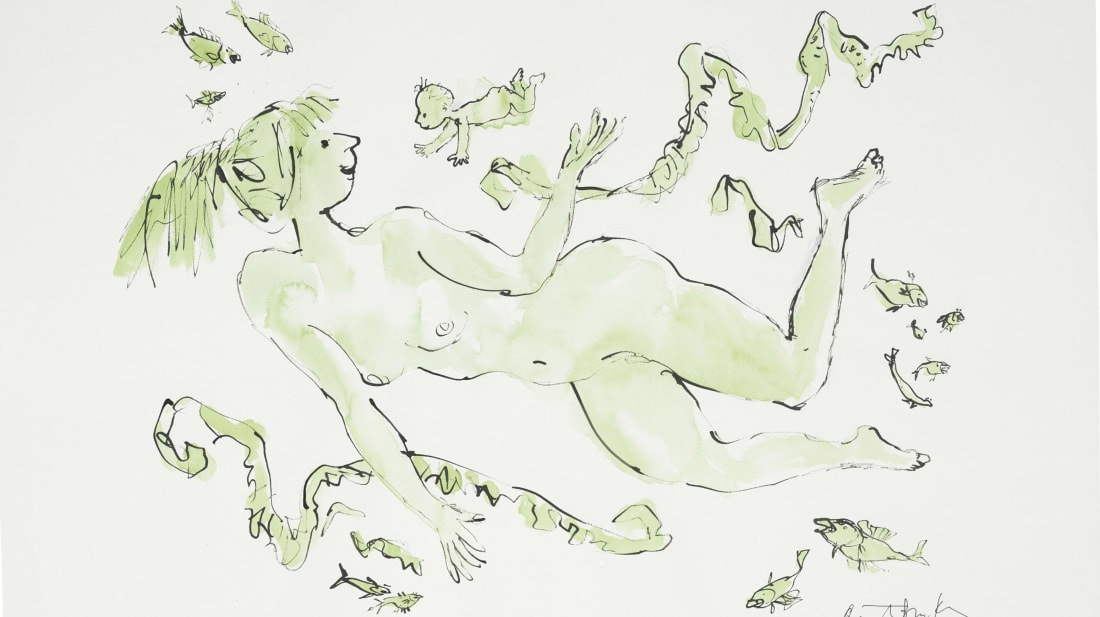 Quentin Blake, courtesy Christie's Images Ltd. 2018