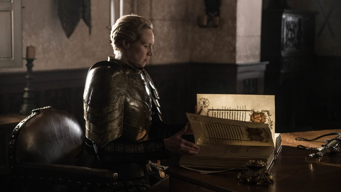 "Gwendoline Christie in ""The Iron Throne,"" Game of Thrones's series finale"