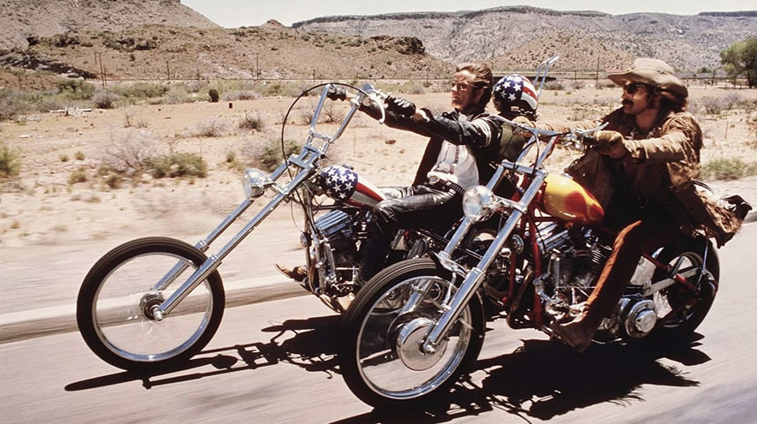 Dennis Hopper and Peter Fonda in Easy Rider (1969)
