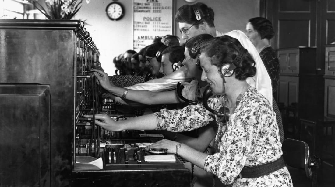 Switchboard operators, circa 1936.