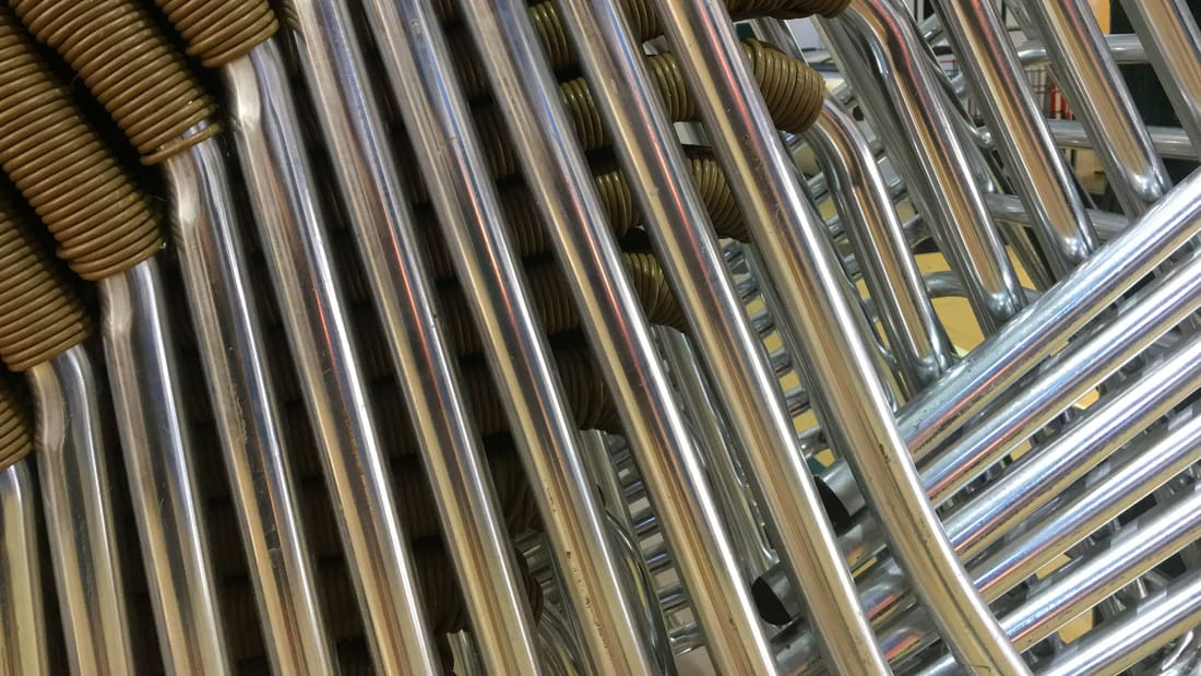 The Unexpected Optical Illusion Hidden In A Stack Of Chairs Mental