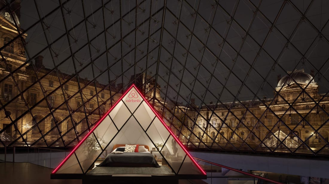 Airbnb Is Turning the Louvre's Pyramid Into a Hotel for One