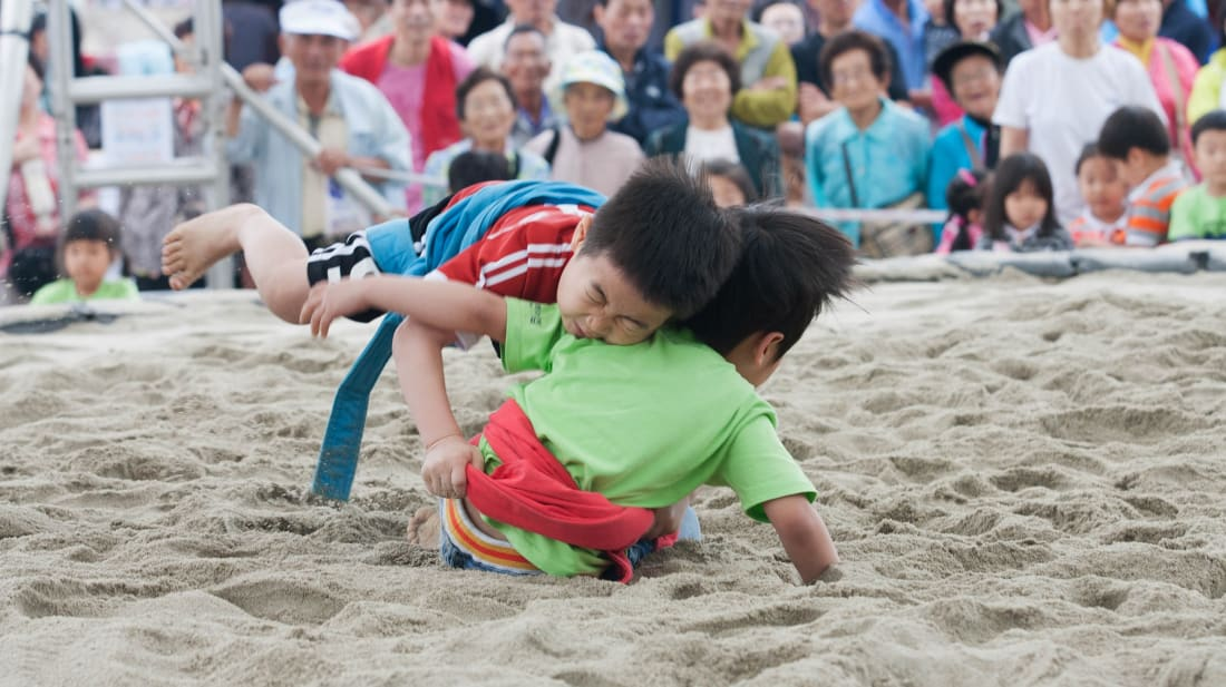 Ssireum at the Gangneung Dano Festival in South Korea