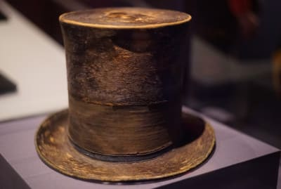 Abraham Lincoln's top hat, worn the night of his assassination
