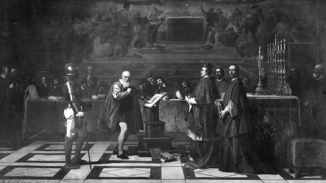 Galileo Before The Papal Tribunal by Robert Henry. Hulton Archive, Getty Images