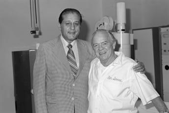 Dr. René Favaloro (left) pictured with colleague Dr. Mason Sones.