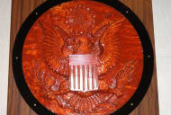 A replica of the Great Seal bug at the National Cryptologic Museum