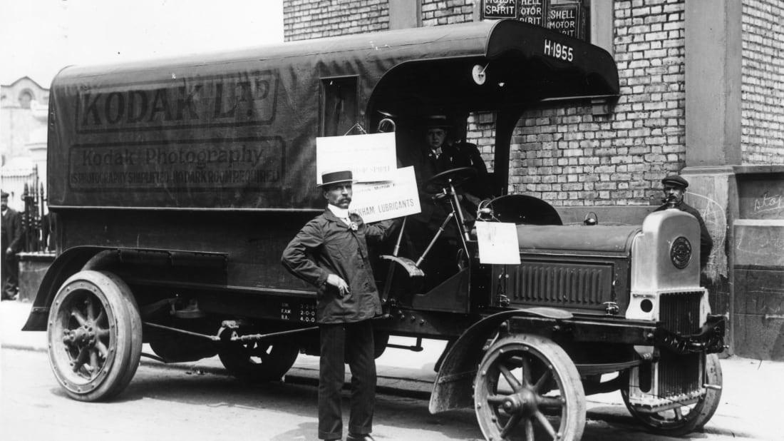 A Kodak van in 1911