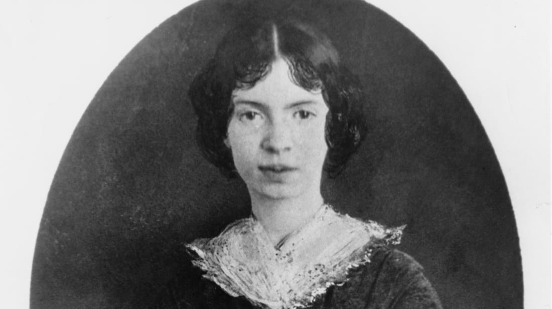 American poet Emily Dickinson circa 1850