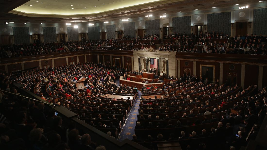 An image of the State of the Union address in 2016