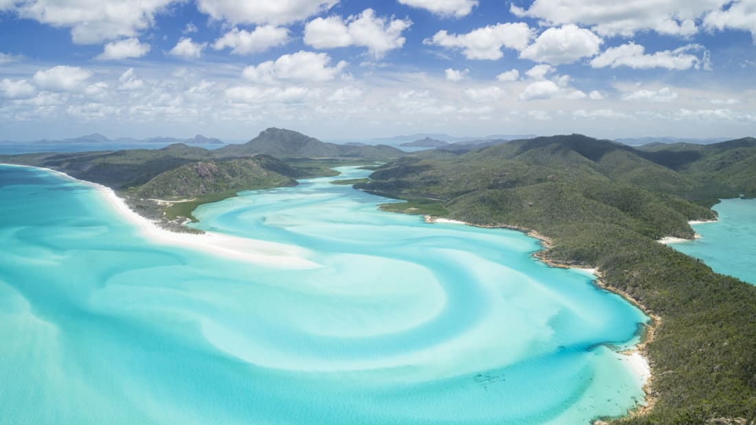 The Whitsunday Islands in Australia's Great Barrier Reef