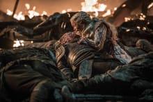 Iain Glen and Emilia Clarke in Game of Thrones