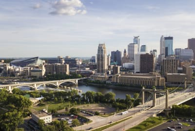 Skyline of Minneapolis, Minnesota