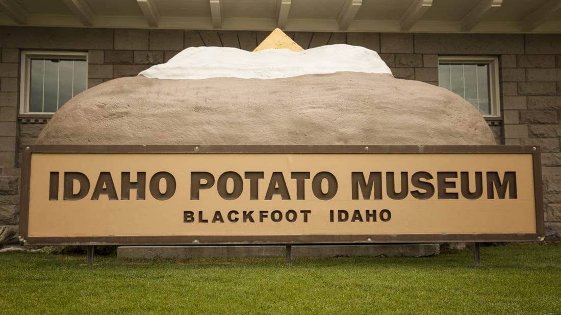 The exterior of The Idaho Potato Museum in Blackfoot, Idaho.