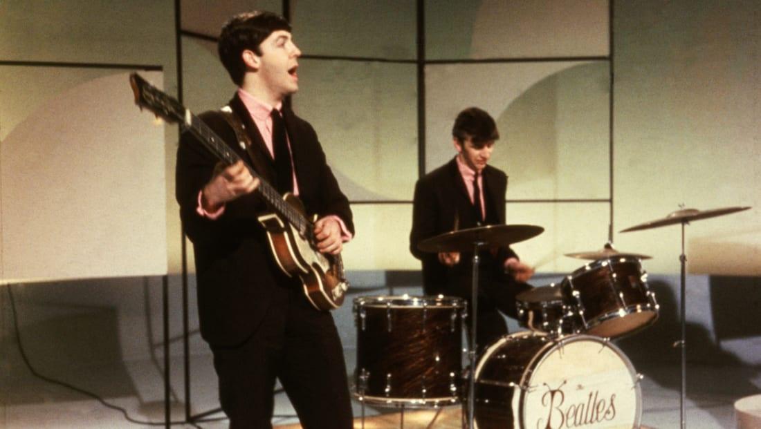 Paul McCartney (left) and Ringo Starr of The Beatles