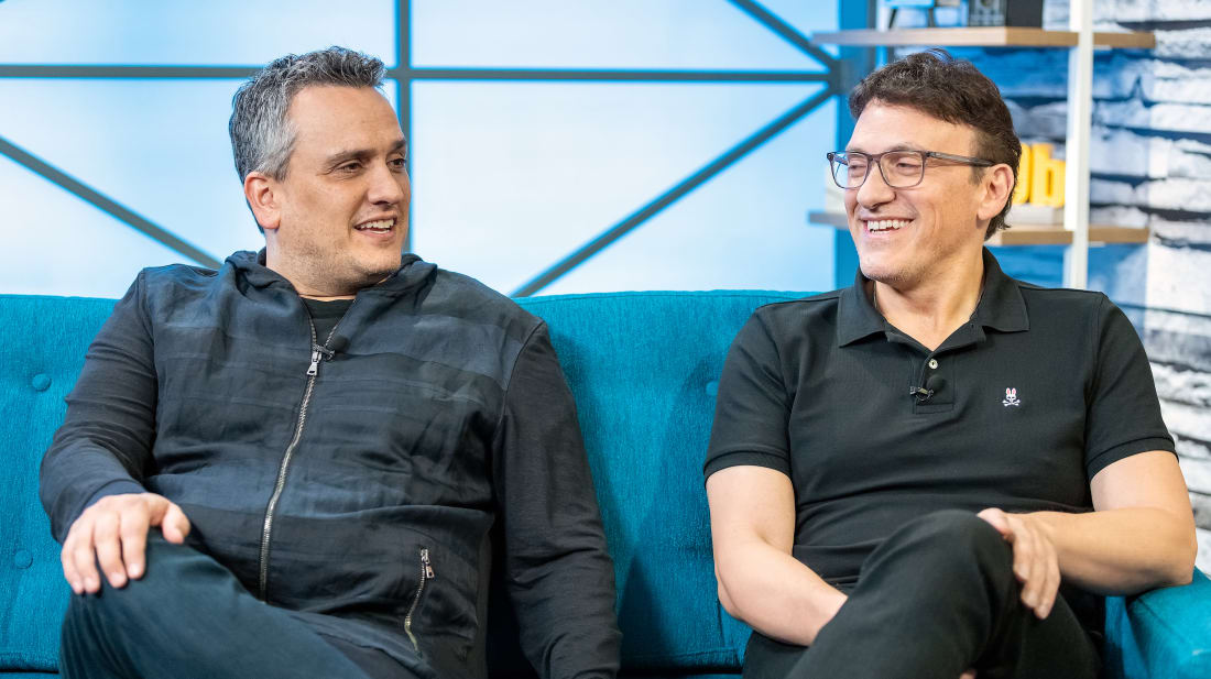 The Russo brothers visiting The IMDb Show on April 23, 2019 in Studio City, California.